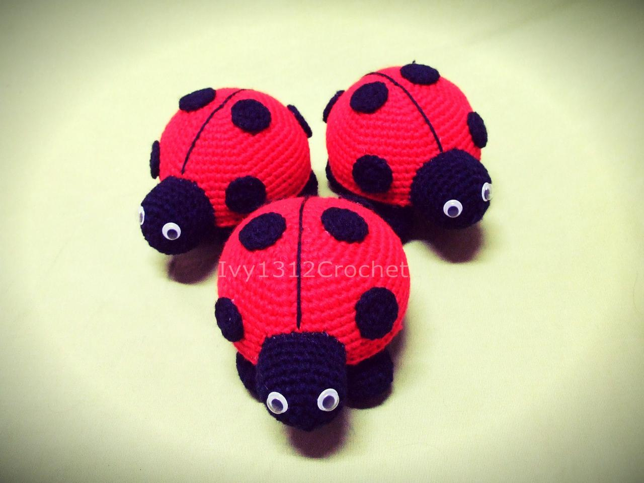 crochet baby handmade lovely ladybug rattle toy doll gifts|rattle ... | 960x1280