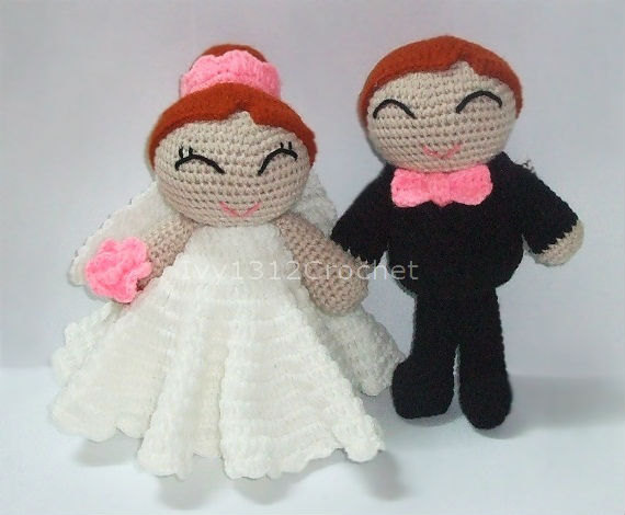 Crochet Wedding Gift: Finished Handmade Amigurumi