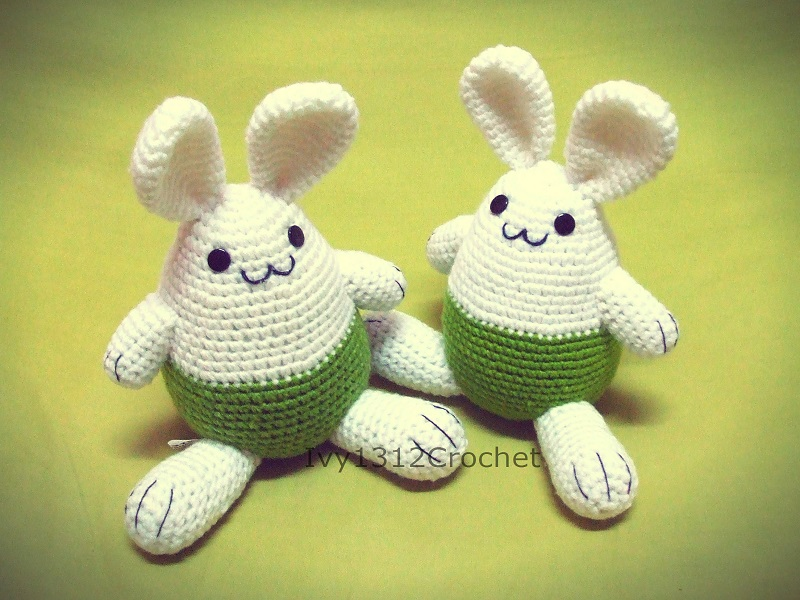 "Easter Bunny 7.67"" - Handmade Amigurumi crochet doll Home decor birthday gift Baby shower toy (Price for each item)"