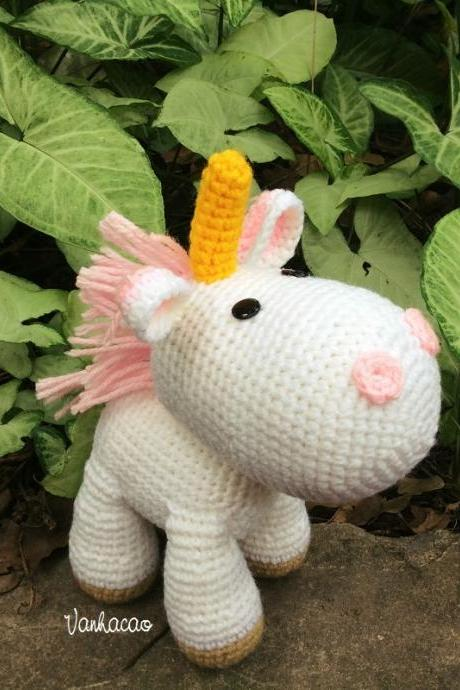Agnes' Unicorn in Despicable Me - Handmade Handcrafted Crocheted Amigurumi Christmas Children Birthday Baby Shower Gift