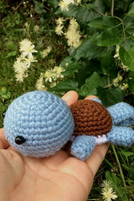 Squirtle Pokemon - Handmade Handcrafted Crocheted Amigurumi Christmas Children Birthday Home Decor Gift