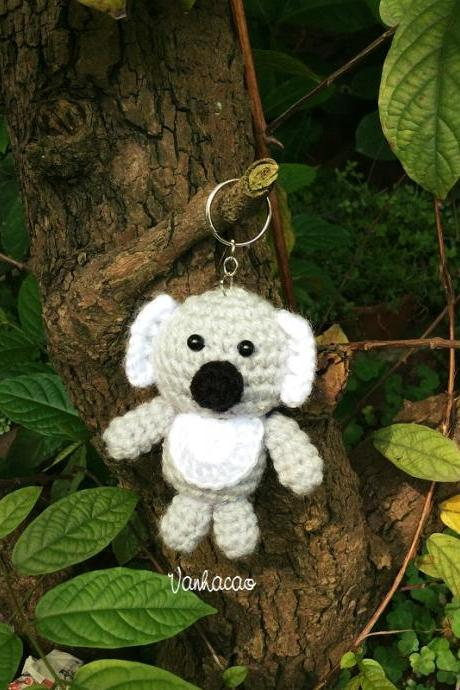 Koala Bear Keychains - Handmade Handcrafted Crocheted Amigurumi Christmas Children Birthday Baby Shower Gift