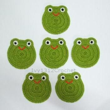 Frog Coasters (Set of 6) - Handmade Amigurumi Coasters