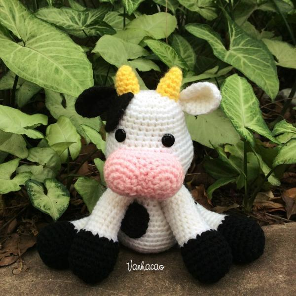 Adorable Cow - Handmade Handcrafted Crocheted Amigurumi Christmas Children Birthday Baby Shower Gift